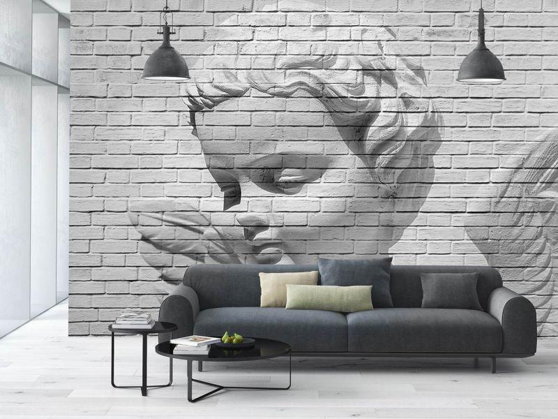 Фотообои в интерьере  Ангел на стене №160 ab04cc0b25991